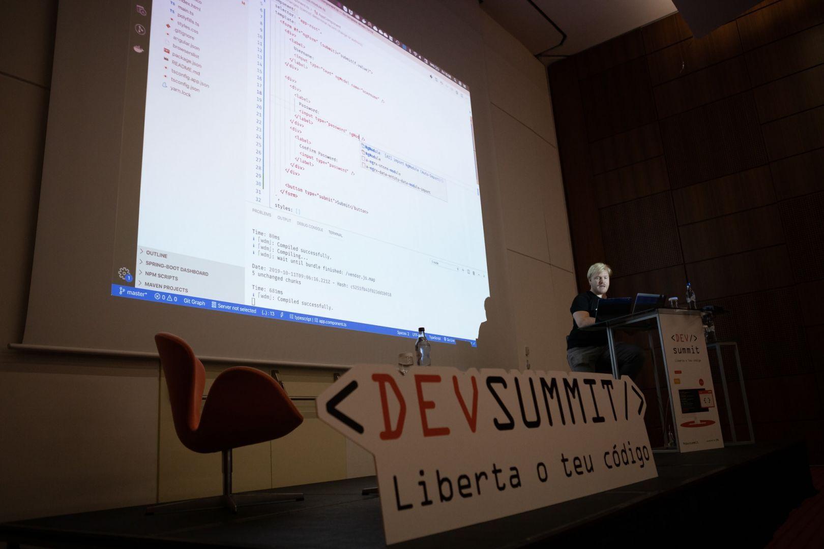 Sessão da DevSummit