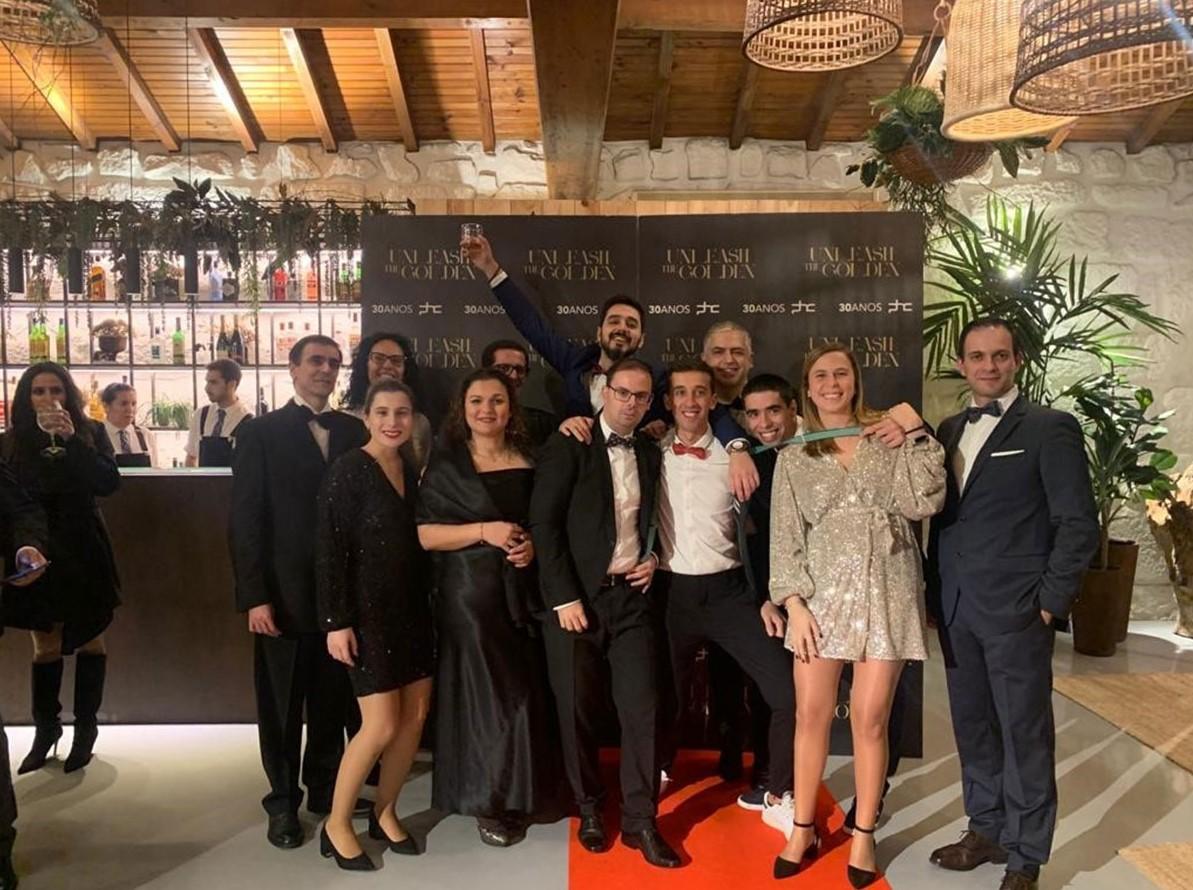 Colaboradores do Porto no Jantar de natal da PHC